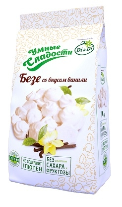"Безе со стевией со вкусом ванили ""Di&Di"" ""Умные Сладости"" 70г"