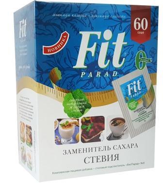 "Заменитель Сахара на основе Стевии № 8 ""Fit Parad"" (Коробка) 60 саше 1г"