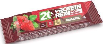 Протеиновый батончик «ProteinRex» Fruit Energy (20%) «Клубника» 40г