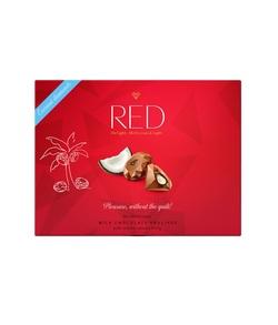 """Шоколад молочный с кокосовой начинкой """"Red Delight"""" 132г"""