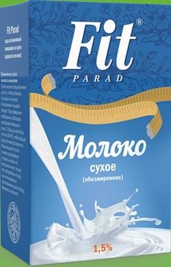 """Сухое обезжиренное молоко 1,5 %  """"Fit Parad"""" 300г"""