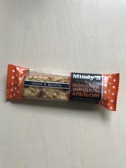"Батончик ""Шоколад-Миндаль-Апельсин"" ""Mindy S"" 35г"