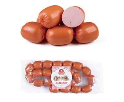 """Сардельки Медвежки """"Белорусский гостинец""""  Цена за 1 кг"""