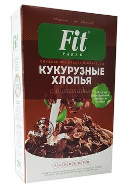 """Хлопья Кукурузные """"Шоколад"""" со стевией """"Fit Parad"""" 200г"""