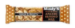 "Батончик ""Арахис-Яблоко-Мёд"" ""Mindy S"" 35г"