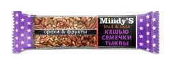 """Батончик """"Кешью-Семечки тыквы"""" """"Mindy S"""" 35г"""