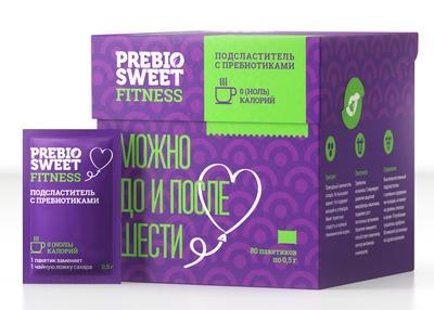 """Столовый Подсластитель Fitness """"Prebio Sweet"""" (Коробка) 80 саше 0,5г"""