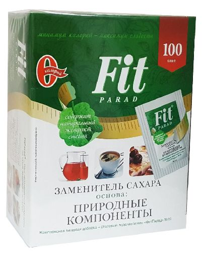 "Заменитель Сахара На Основе Эритрита № 10 ""Fit Parad"" (Коробка) 100 саше по 0,5г"
