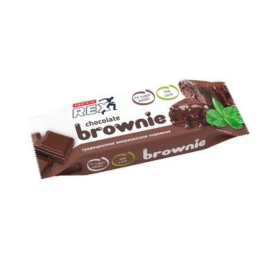 """Пирожное протеиновое """"Брауни Классическое"""" «ProteinRex» 50г"""