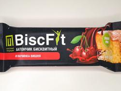 """Батончик бисквитный (Вишня) """"BiscFit"""" 60г"""
