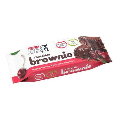 "Пирожное протеиновое ""Брауни Вишня"" «ProteinRex» 50г"