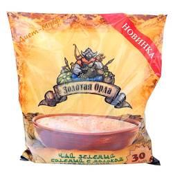 """Чай зеленый с молоком соленый растворимый """"Золотая орда"""" 360г (30 пакетиков)"""