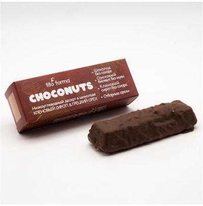 """Десерт Choconuts (Кленовый сироп-Грецкий орех) """"Fito Forma"""" 50г"""