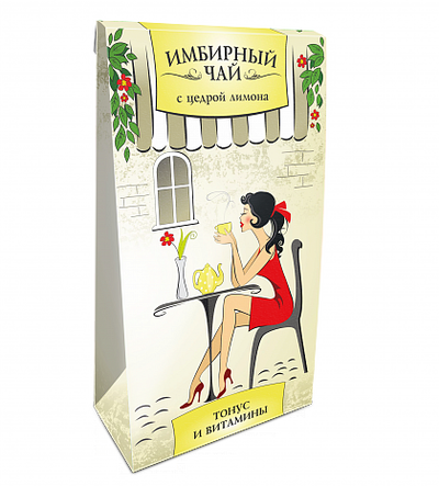 """Имбирный чай ( с цедрой лимона ) """"Фитоком"""" 20ф/п х 1.5г"""
