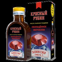 """Масло Льняное """"Красный Рубин"""" """"Компас здоровья"""" 0,2л"""