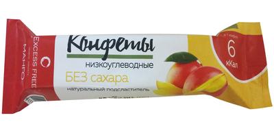 """Низкоуглеводные конфеты ( Манго ) """"Excess Free"""" 55г"""