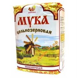 """Мука обойная пшеничная цельнозерновая """"Дивинка"""" 1кг"""