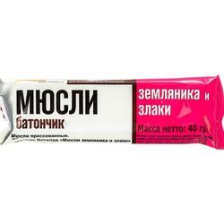 """Батончик - мюсли """"Земляника и злаки"""" """"Виталад"""" 40г"""