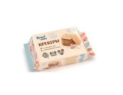 """Крекер с семенами Чиа и Гималайской солью Без Сахара ,Протеина-20% """"Royal Cake"""" 84г"""