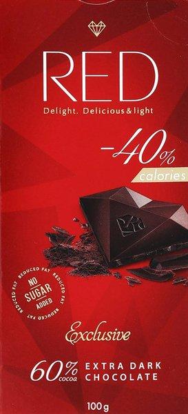 """Шоколад темный Экстра 60% какао """"Red Delight"""" 100г"""