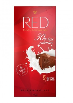 "Шоколад молочный ""Red Delight"" 100г"