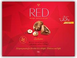 """Шоколад молочный с ореховой начинкой """"Red Delight"""" 132г"""