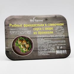 """Рыбные фрикадельки в сливочном соусе с пюре из брокколи """"Fito Forma"""" 250 г"""