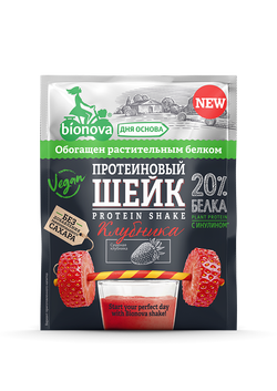 """Протеиновый Шейк Клубника """"Bionova"""" 25г"""