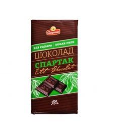 "Шоколад горький без сахара 72% ""Спартак"" 90г"