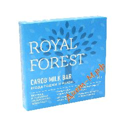 "Шоколад ""Кэроб, ягода годжи и изюм"" ""Royal Forest"" 75г"